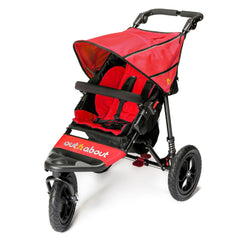 Out n About Nipper 360 v4 Pushchair (Carnival Red) - quarter view