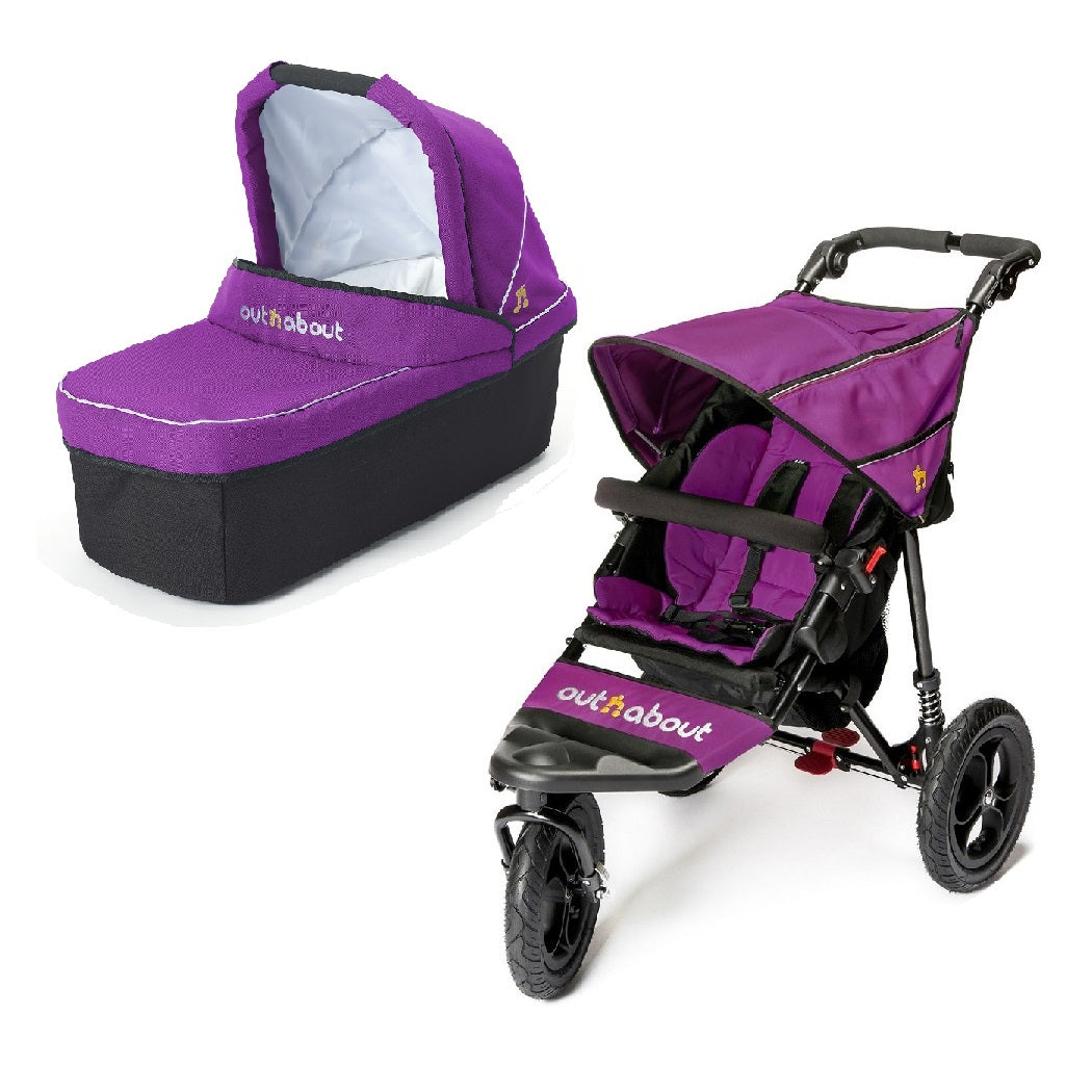 Out n About Nipper 360 v4 Pushchair & Carrycot (Purple Punch)