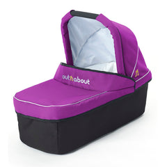 Out n About Nipper Carrycot (Purple Punch) - quarter view
