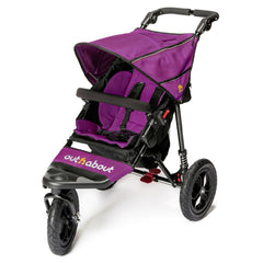 Out n About Nipper 360 v4 Pushchair (Purple Punch) - quarter view