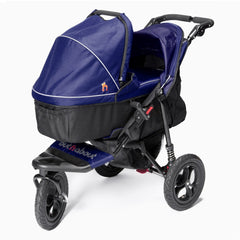 Out n About Nipper 360 v4 Pushchair & Carrycot (Royal Navy) - showing the carrycot fitted onto the pushchair