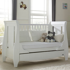 Tutti Bambini Lucas Cot Bed (White) - lifestyle image, shown here as the sofa bed