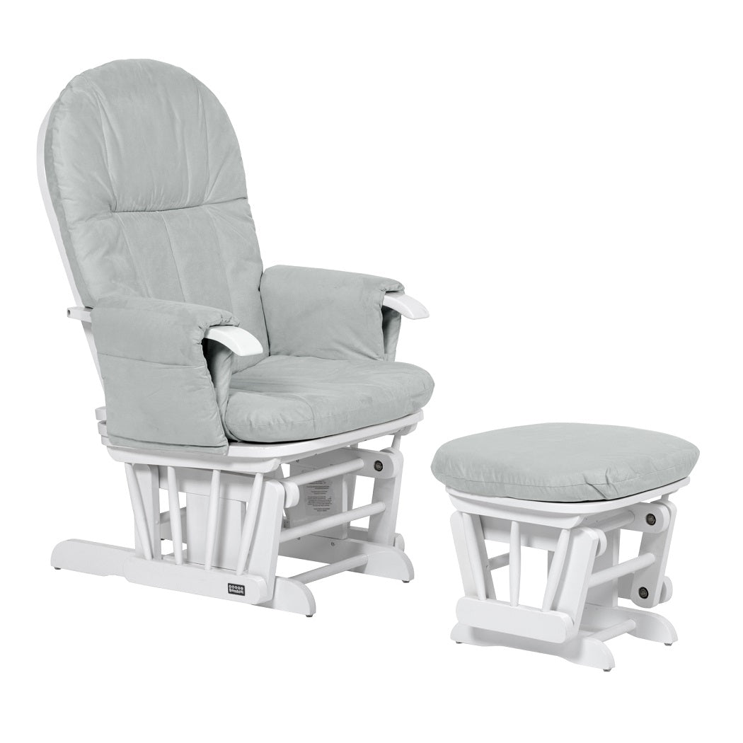 Tutti Bambini GC35 Glider Chair & Stool (White with Grey)