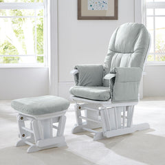 Tutti Bambini GC35 Glider Chair & Stool (White with Grey) - lifestyle image