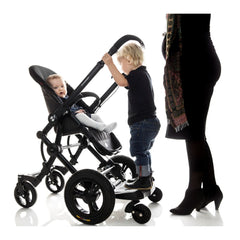 Bumprider Stroller Board (Black) - Sit or Stand - lifestyle image, shown without the seat