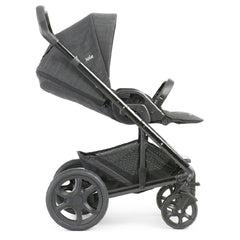 Joie Chrome DLX Pushchair (Pavement) - side view, shown here in forward-facing mode with seat reclined