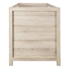 Tutti Bambini Modena Cot Bed (Oak with White) - showing the oak effect end panel