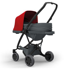 Quinny Zapp Newborn Cocoon (Graphite) - shown here in use with pushchair (not included, available separately)