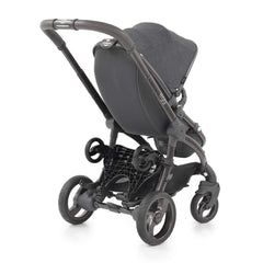 egg Ride-On Board (Black) - shown here attached to an egg stroller and folded away