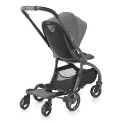 egg Ride-On Board (Black) - shown here attached to a quail stroller