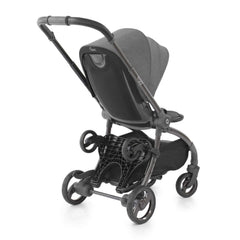 egg Ride-On Board (Black) - shown here attached to a quail stroller and folded away