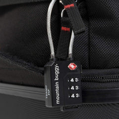 Mountain Buggy Travel Bag (Black) - showing the included TSA padlock