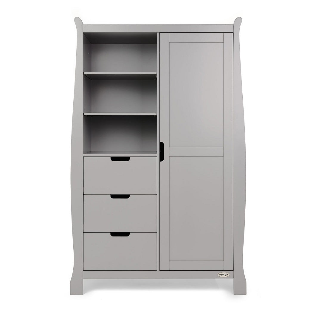 Obaby Stamford Sleigh Double Wardrobe (Warm Grey)