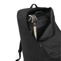 BabyStyle Travel Bag (Black) - showing the zipped opening