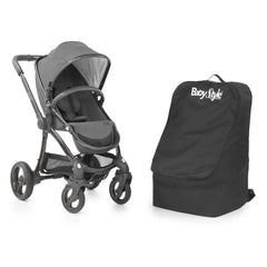BabyStyle Travel Bag (Black) - shown here with a pushchair (not included, available separately)