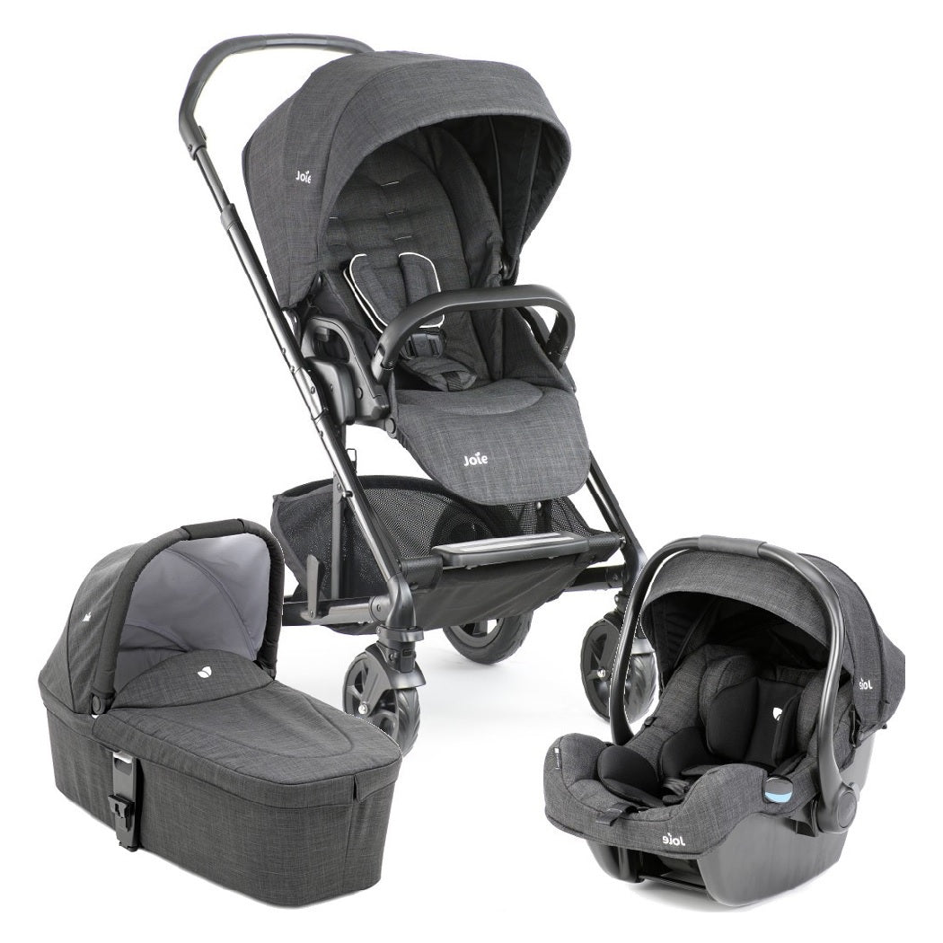 Joie Chrome DLX Pushchair & Carrycot (Pavement) with i-Gemm i-Size Infant Carrier Bundle