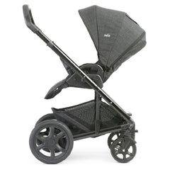 Joie Chrome DLX Pushchair (Pavement) - side view, shown parent-facing