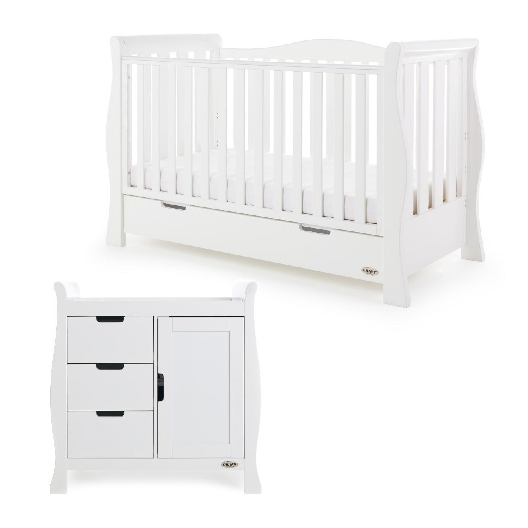Obaby Stamford Luxe 2 Piece Room Set (White)