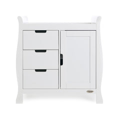 Obaby Stamford Sleigh Changing Unit (White) - front view