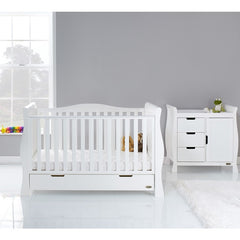Obaby Stamford Luxe 2 Piece Room Set (White) - lifestyle image