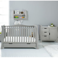 Obaby Stamford Luxe 2 Piece Room Set (Warm Grey) - lifestyle image