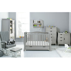 Obaby Stamford Luxe 7 Piece Room Set (Warm Grey) - lifestyle image