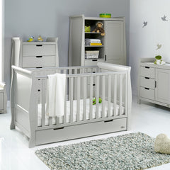 Obaby Stamford Sleigh 4 Piece Room Set (Warm Grey) - lifestyle image