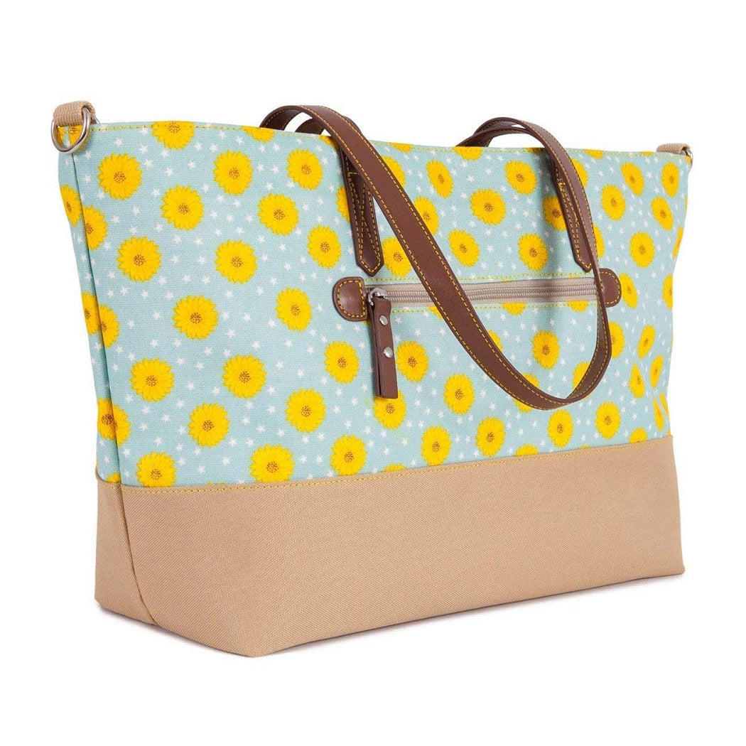 Pink Lining Notting Hill Tote Changing Bag (Sunflowers)