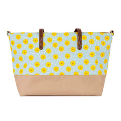 Pink Lining Notting Hill Tote Changing Bag (Sunflowers) - front view