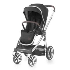 Babystyle Oyster 3 Mirror Pushchair (Caviar) - shown here forward-facing