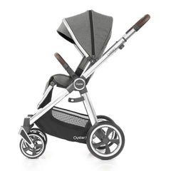 Babystyle Oyster 3 Mirror Pushchair (Mercury) - side view, shown here forward-facing with seat upright