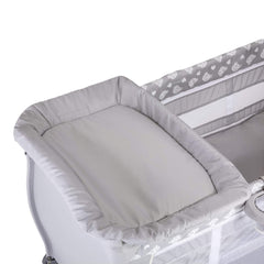 Hauck Baby Centre 120x60cm (Teddy Grey) - shown here with the changing table attached