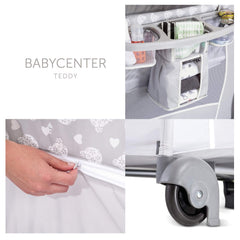 Hauck Baby Centre 120x60cm (Teddy Grey) - showing additional features of the cot