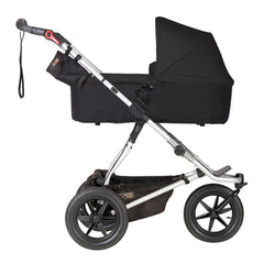 Mountain Buggy 2019 Carrycot Plus (Black) for Terrain - shown here fixed to a chassis as a pram (pushchair chassis not included, available separately)