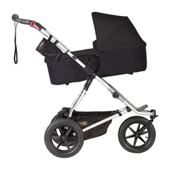 Mountain Buggy 2019 Carrycot Plus (Black) for Terrain - shown here with carrycot inclined