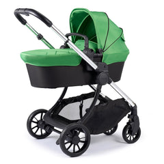 iCandy Lime Pushchair & Carrycot (Lime) - quarter view, shown here as the pram