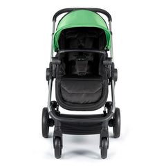 iCandy Lime Pushchair & Carrycot (Lime) - front view, shown here as the pushchair in forward-facing mode