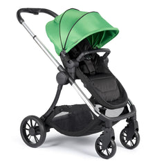 iCandy Lime Pushchair & Carrycot (Lime) - quarter view, shown here as the pushchair in forward-facing mode