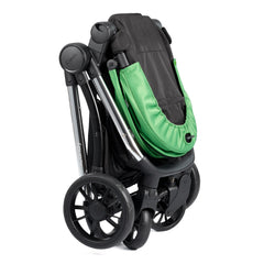 iCandy Lime Pushchair & Carrycot (Lime) - side view, shown here folded