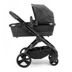iCandy Peach Designer Collection (Cerium) - side view, showing the carrycot and chassis as the pram