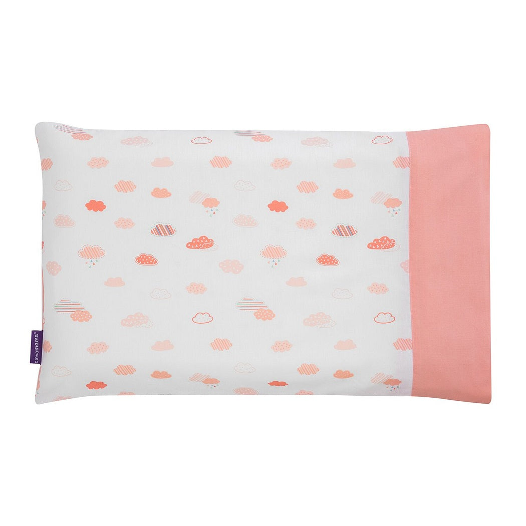 ClevaMama Replacement Baby Pillow Case Cover (Coral)