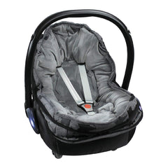 Original Dooky Small Footmuff (Grey Stars) - shown here fitted to an infant carrier as a liner (infant carrier NOT included, available separately)