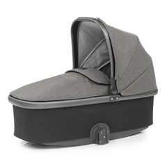 Babystyle Oyster 3 City Grey Essential Bundle (Mercury) - quarter view, showing the included carrycot