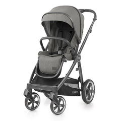 Babystyle Oyster 3 City Grey Essential Bundle (Mercury) - side view, showing the pushchair in forward-facing mode