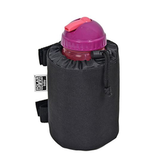 Polar Gear Baby Go Anywhere Insulated Bottle Holder - shown here with a bottle inside and drawstring fastened (bottle not included)