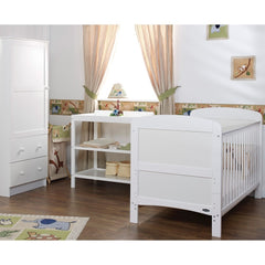 Obaby Grace 3 Piece Room Set (White) - lifestyle image
