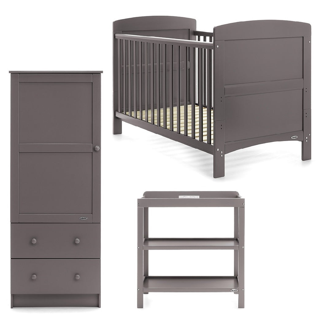 Obaby Grace 3 Piece Room Set (Taupe Grey)