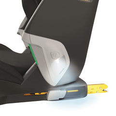 Maxi-Cosi Kore Pro i-Size Child Car Seat (Authentic Black) - close view, showing the ClickAssist Light and its ISOFIX connectors