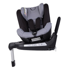 Mountain Buggy Safe Rotate ISOFIX Car Seat (Black/Silver) - side view, showing the seat with the infant insert removed
