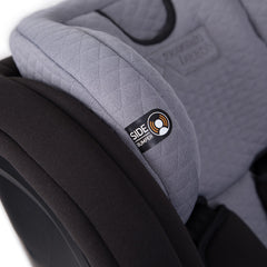 Mountain Buggy Safe Rotate ISOFIX Car Seat (Black/Silver) - close view, showing the seat`s side bumper and headrest